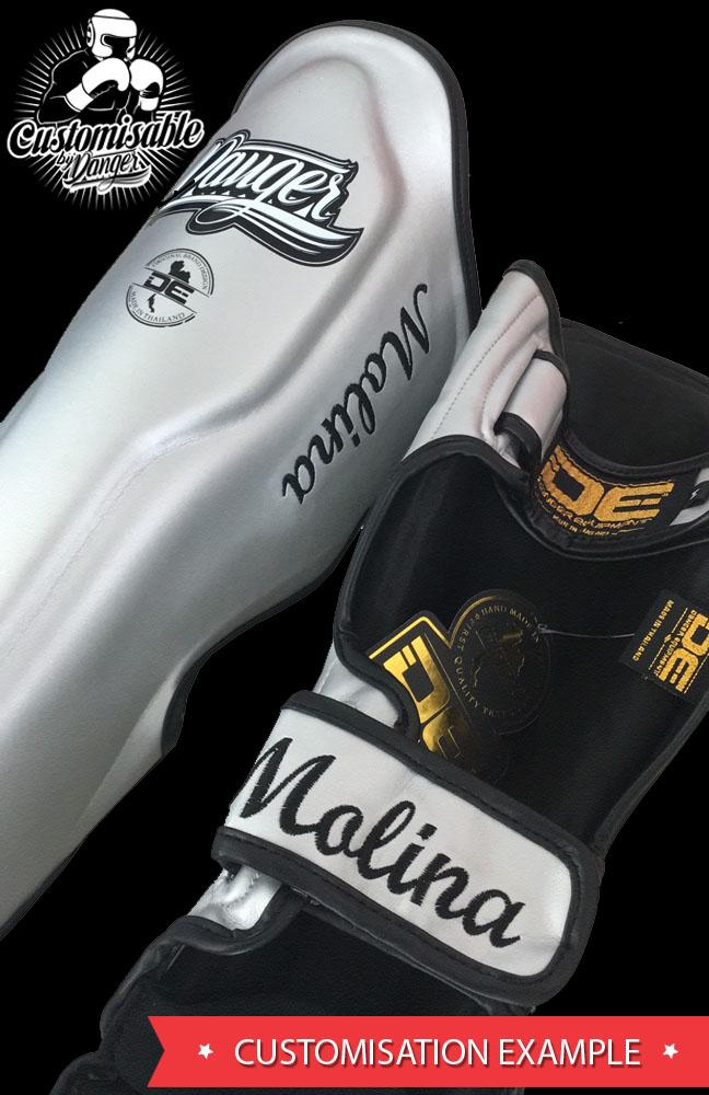 Shin Guards - Danger Black Super Max Edition Shin Guards