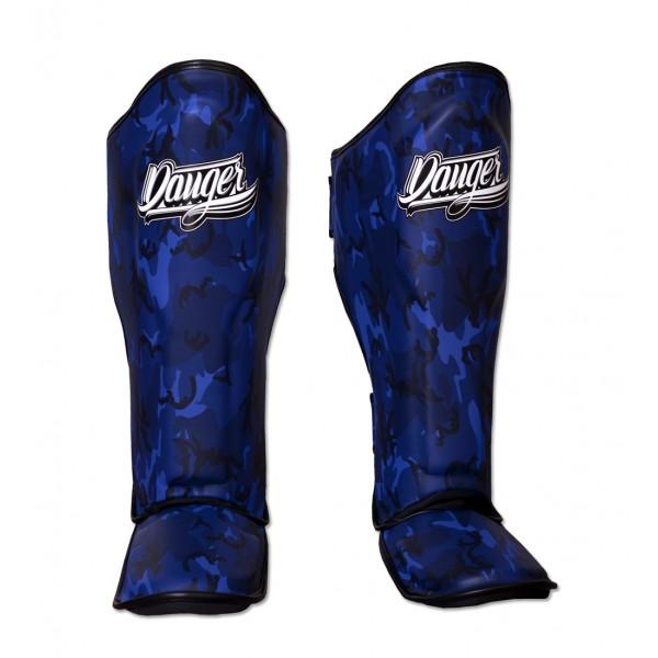 Shin Guards - Danger Blue Army Edition Kids Shin Guards