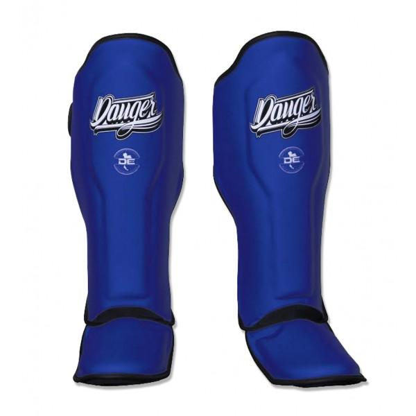 Shin Guards - Danger Blue Super Max Edition Kids Shin Guards