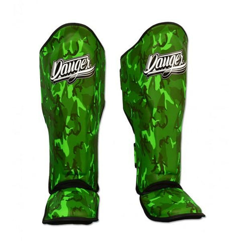 Shin Guards - Danger Green Army Edition Shin Guards