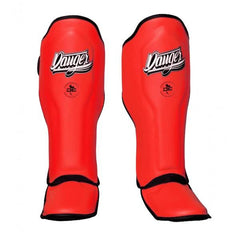 Shin Guards - Danger Neon Red Super Max Edition Shin Guards