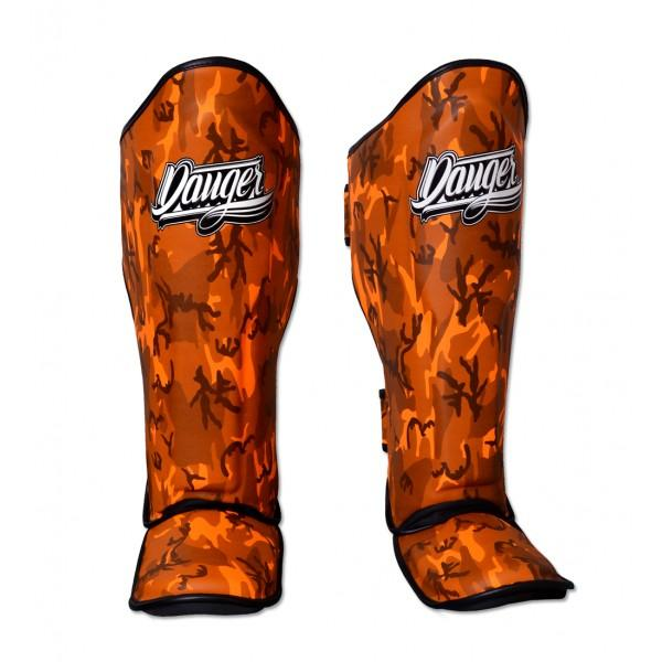 Shin Guards - Danger Orange Army Edition Kids Shin Guards