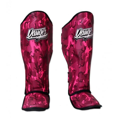 Shin Guards - Danger Pink Army Edition Shin Guards