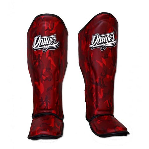 Shin Guards - Danger Red Army Edition Shin Guards