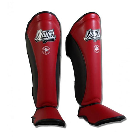 Shin Guards - Danger Red Contact Pro Edition Shin Guards