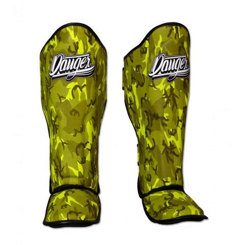 Shin Guards - Danger Yellow Army Edition Kids Shin Guards