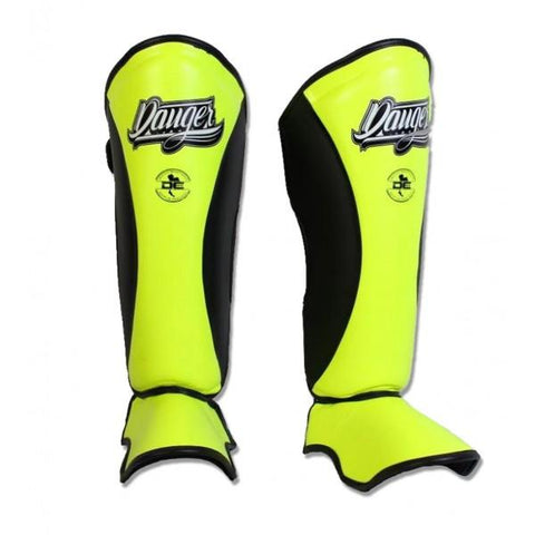 Shin Guards - Danger Yellow / Black Evolution Edition Kids Shin Guards