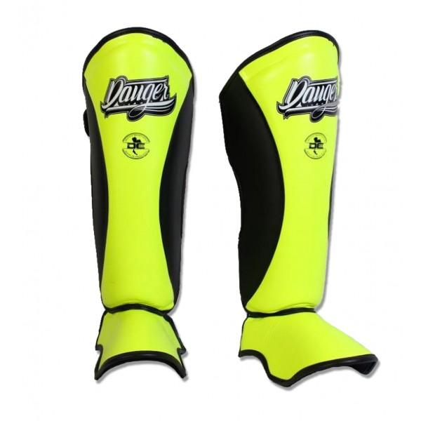Shin Guards - Danger Yellow / Black Evolution Edition Shin Guards