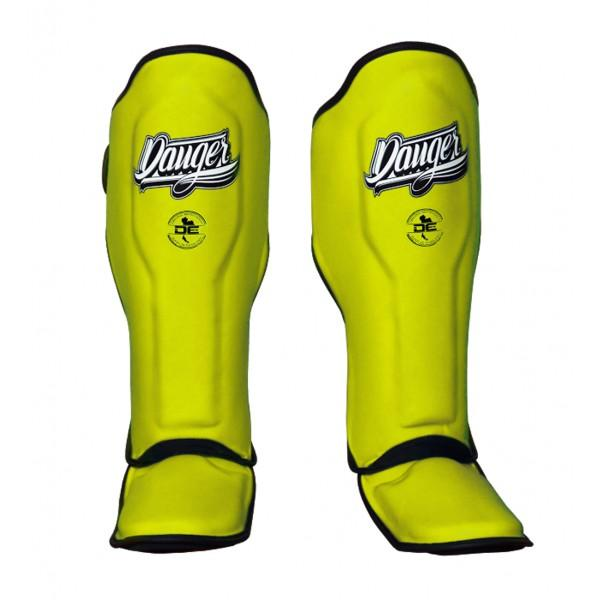 Shin Guards - Danger Yellow Super Max Edition Shin Guards