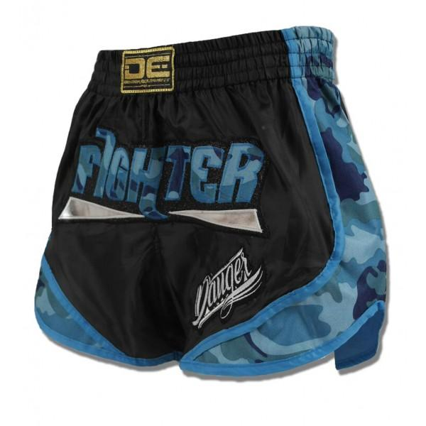 "Special Fit Shorts - Danger Black With Blue Camo ""Fighter"" Special Fit Shorts"