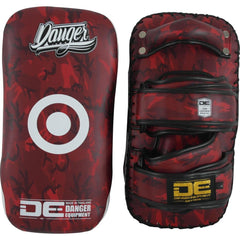 "Thai Pads - Danger Red Army Kicking ""Pro Edition"" Thai Pads"
