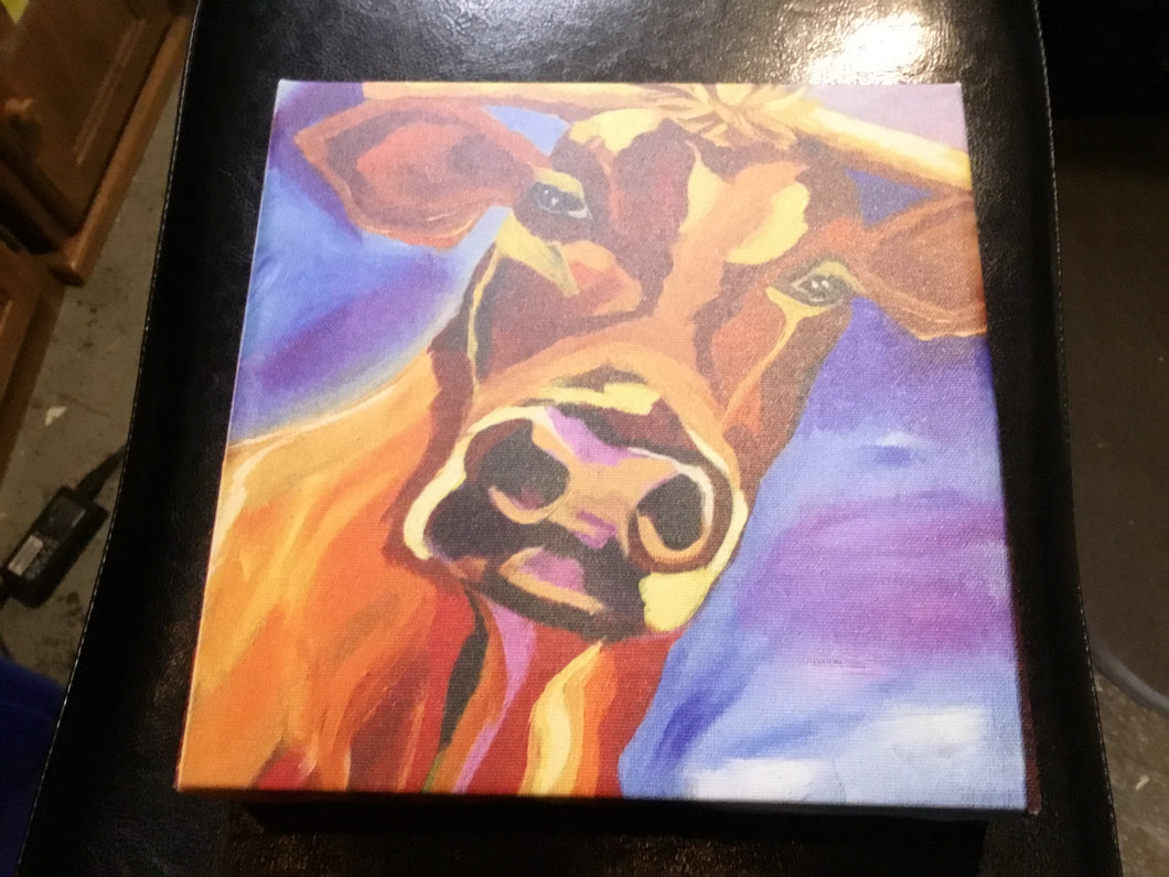 Cow on canvas