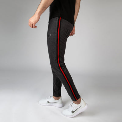 Charcoal Bottoms With Contrast Side Tape v2 - RadStore.pk