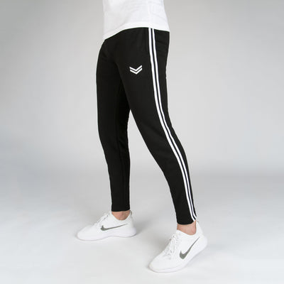 Black Bottoms With White Contrast Side Tape - RadStore.pk