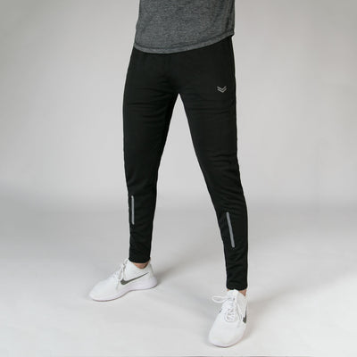 Black Quick Dry Bottoms With Reflective Detailing - RadStore.pk