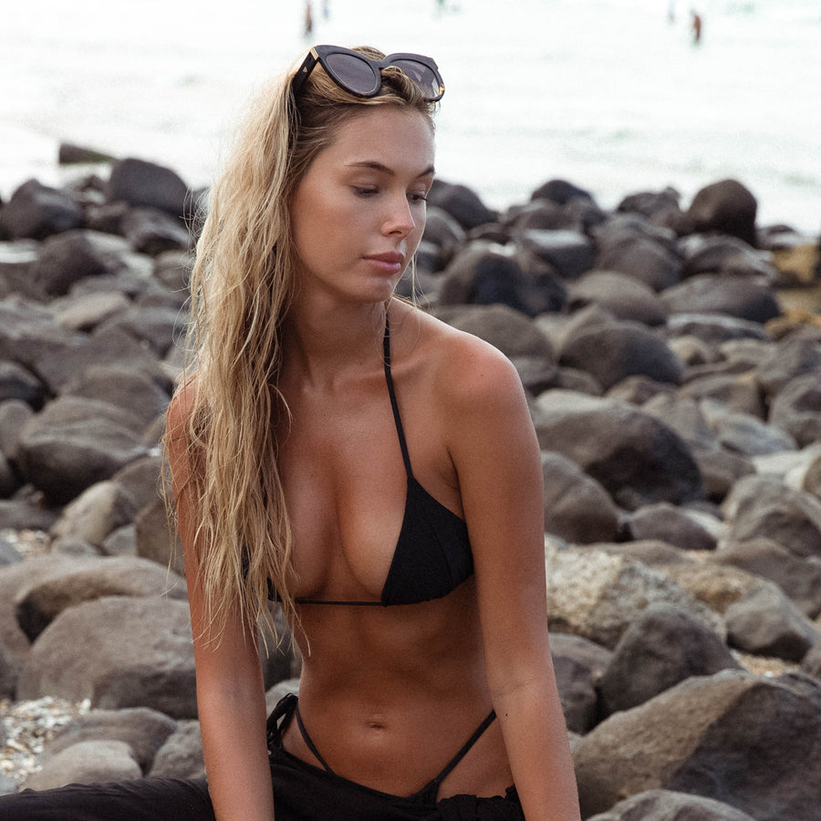 MARLEY BLACK BIKINI TOP - VDM THE LABEL