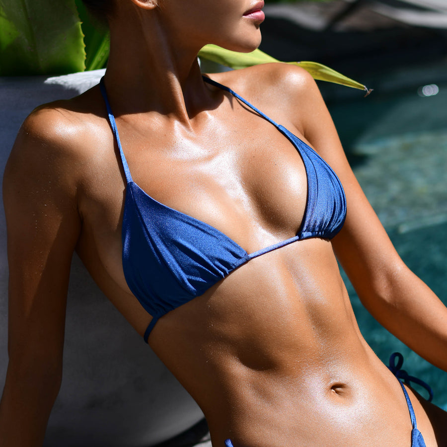 MARLEY DEEP BLUE REVERSIBLE BIKINI TOP - VDM THE LABEL