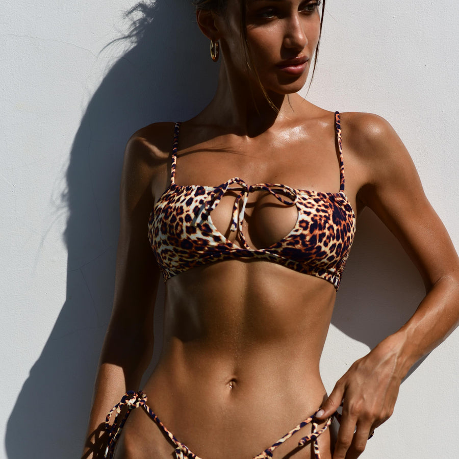 MILA LEOPARD BIKINI TOP - VDM THE LABEL