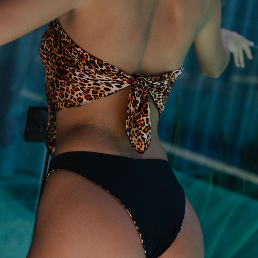 HEATHER LEOPARD/BLACK REVERSIBLE BIKINI BOTTOMS