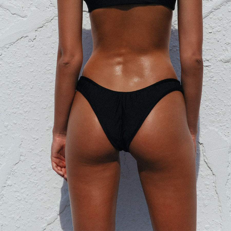 STEVIE BLACK BIKINI BOTTOM | PRE ORDER | SHIPPING EARLY JUNE