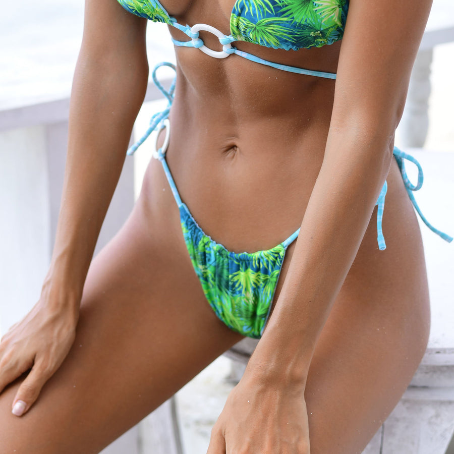ZIGGY TROPICAL/MINT CHECK REVERSIBLE BIKINI BOTTOMS || PRE ORDER ONLY || SHIPPING END MAY