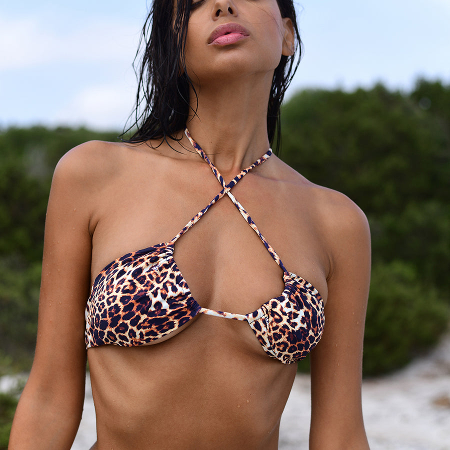 VERA LEOPARD BIKINI TOP - VDM THE LABEL