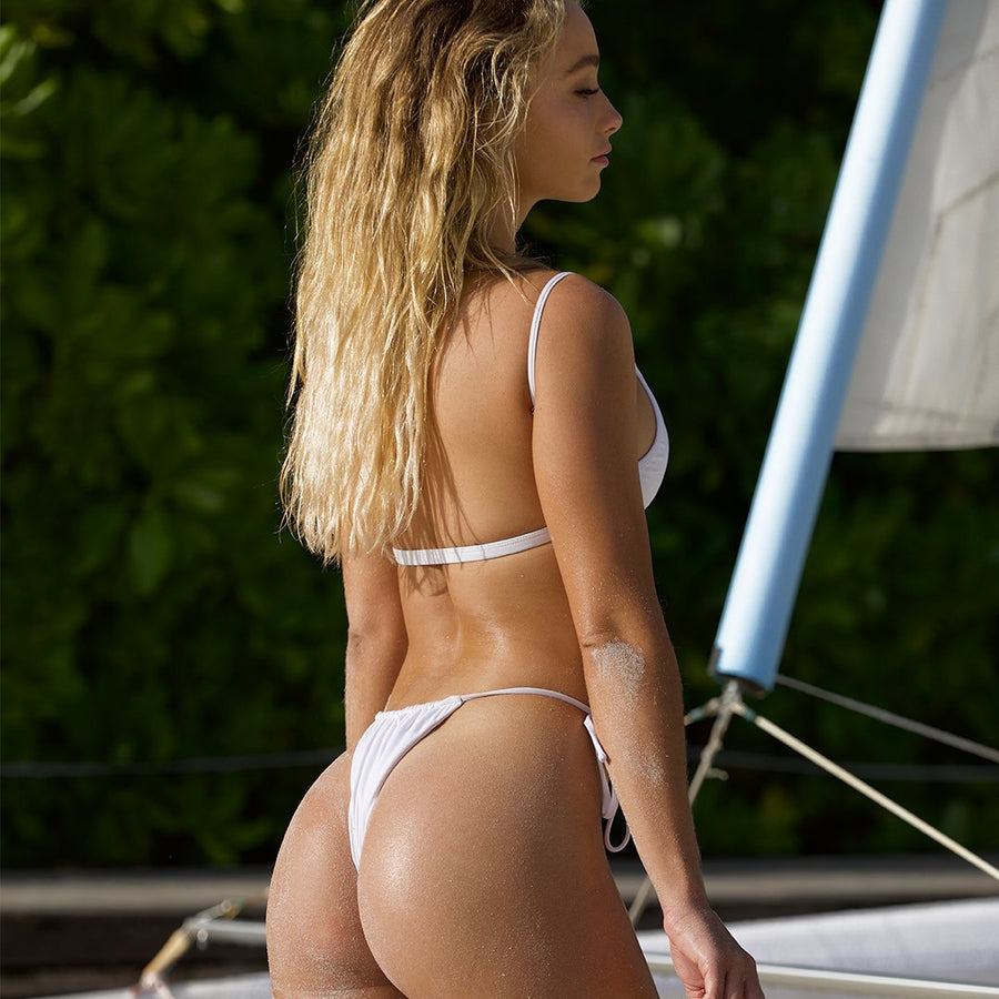 MARLEY WHITE BIKINI BOTTOM |PRE ORDER ONLY - SHIPPING EARLY JUNE