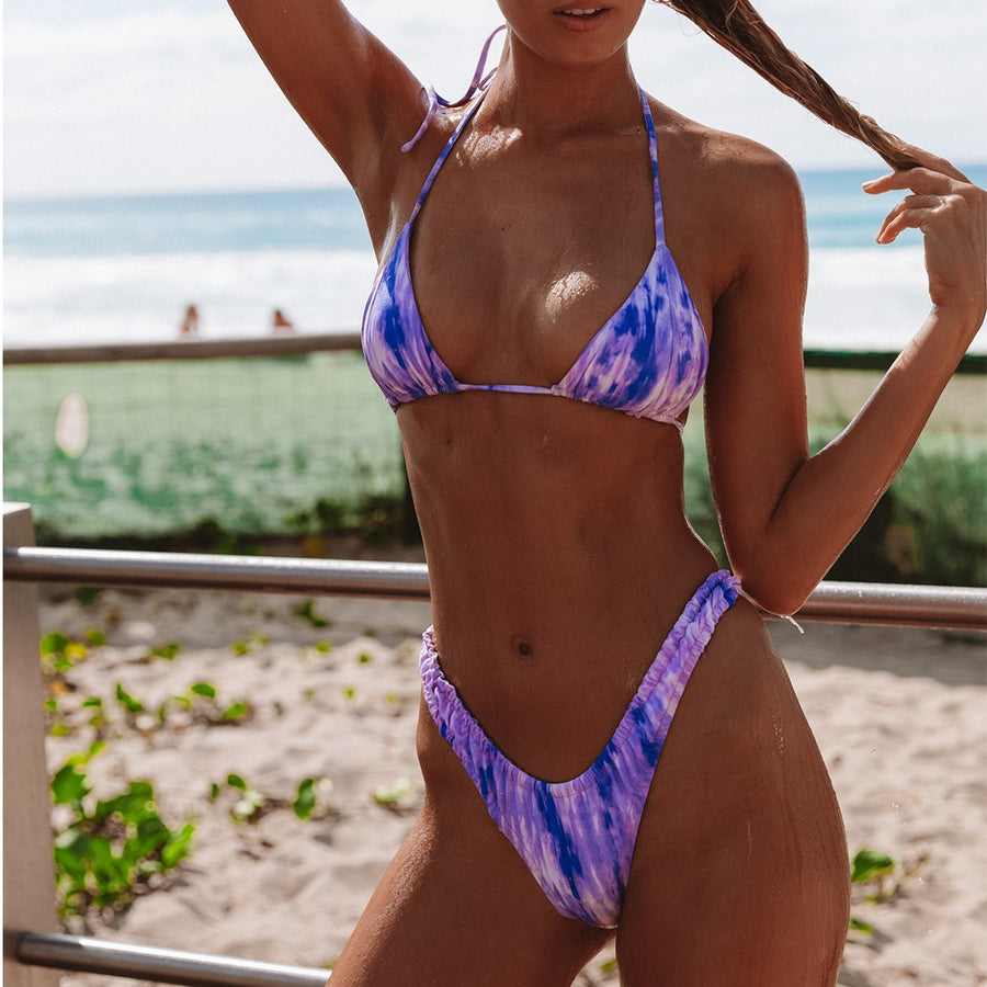 MARLEY PURPLE TIE-DYE BIKINI TOP | PRE-ORDER ONLY | DUE MID-NOVEMBER - VDM