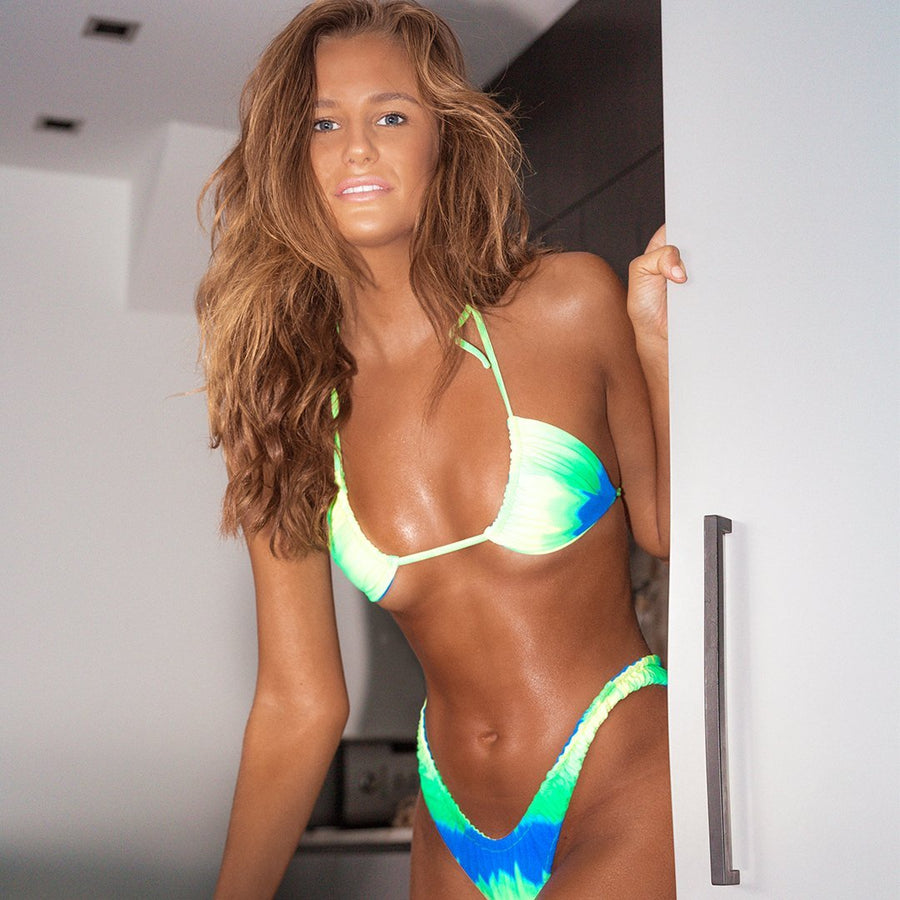 STEVIE NEON TIE-DYE ELASTICATED BIKINI BOTTOM | PRE ORDER ONLY | SHIPPING EARLY JULY