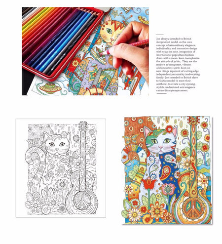 Creative Cats Adult Coloring Books For Stress Relief