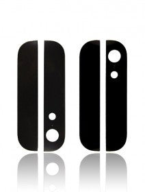 Back Glass (UP + Down) For iPhone 5 (Black)