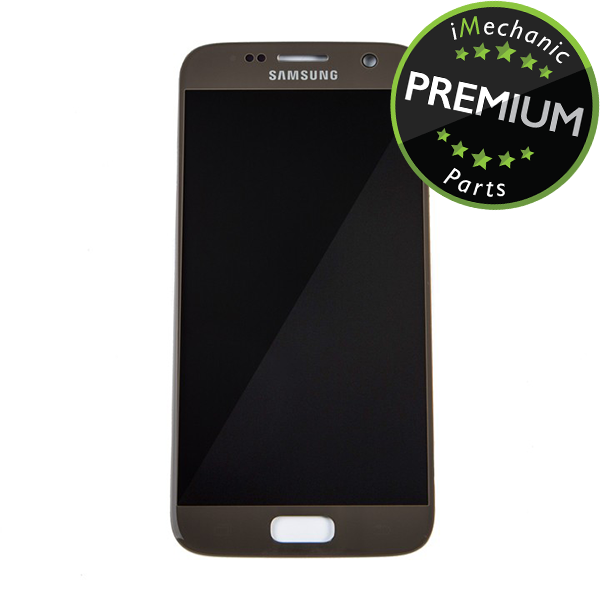 LCD Assembly Without Frame For Samsung Galaxy S7 (Premium) (Gold Platinum)