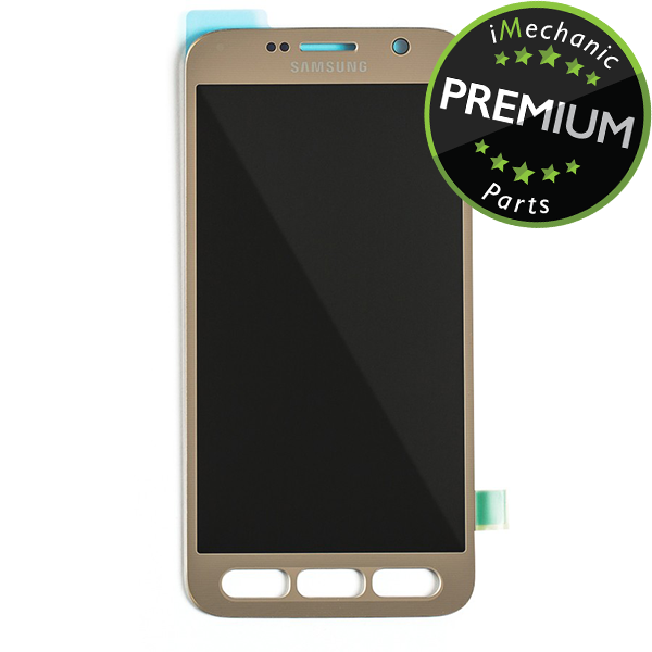 LCD Assembly Without Frame For Samsung Galaxy S7 Active (Premium) (Gold)