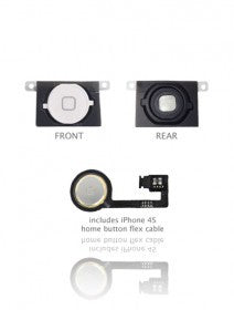 Home Button With Flex For iPhone 4S (White)