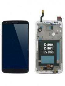LCD Assembly For LG G2 With Frame (Black) (D800) (AT&T / T-Mobile / Sprint)