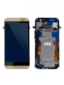 LCD Assembly With Frame For HTC M8 (Gold)