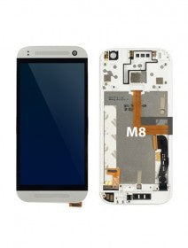 LCD Assembly With Frame For HTC M8 (White)