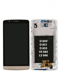 LCD Assembly With Frame For LG G3 (Gold)