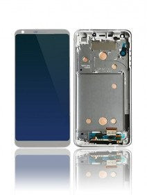 LCD Assembly With Frame For LG G6 (Platinum Silver)
