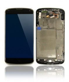 LCD Assembly With Frame For Nexus 4 (Black)