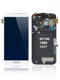 LCD Assembly With Frame For Samsung Galaxy Note 2 N7105/i317/T889 (AT&T & T-Mobile) (White)