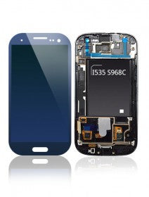 LCD Assembly With Frame For Samsung Galaxy S3 i535 S968C (Verizon/Straight Talk) (Blue)