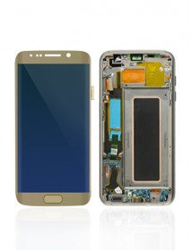LCD Assembly With Frame For Samsung Galaxy S7 Edge (All US Models) (Gold)