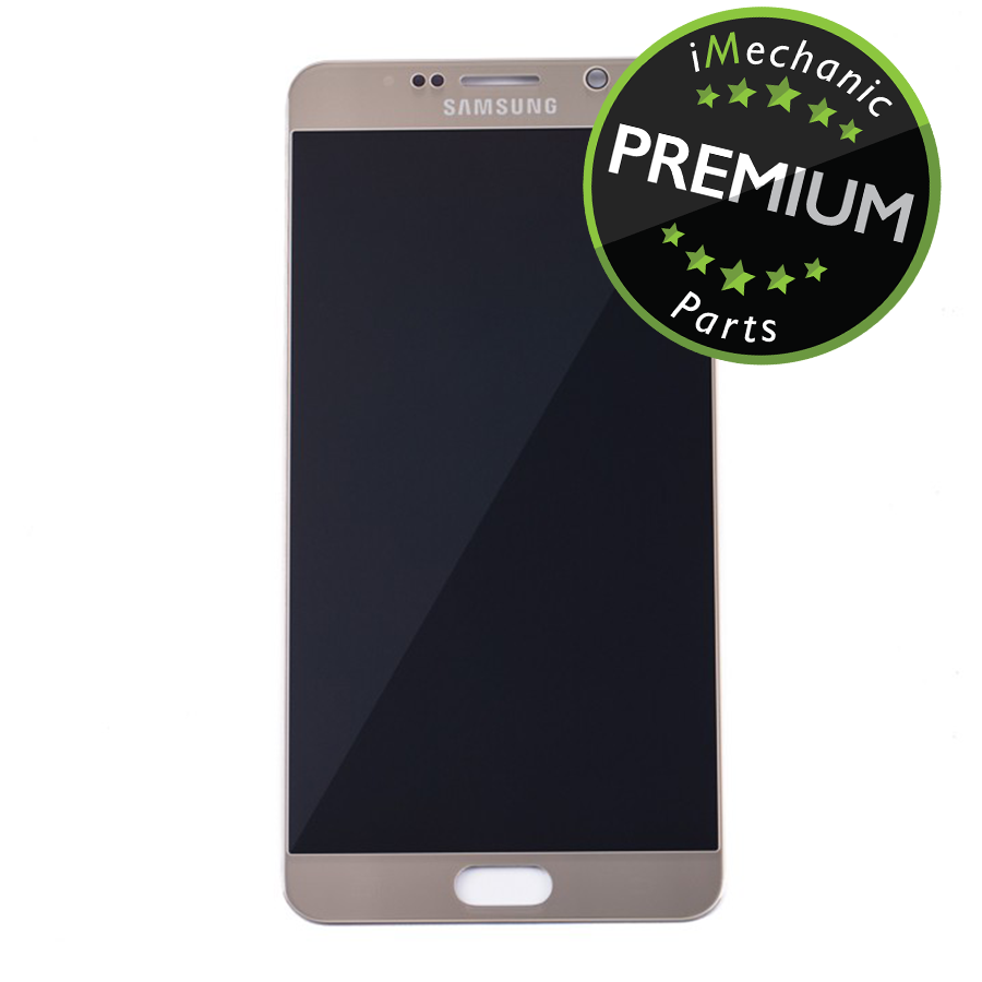 LCD Assembly Without Frame For Samsung Galaxy Note 5 (Premium) (Gold Platinum)
