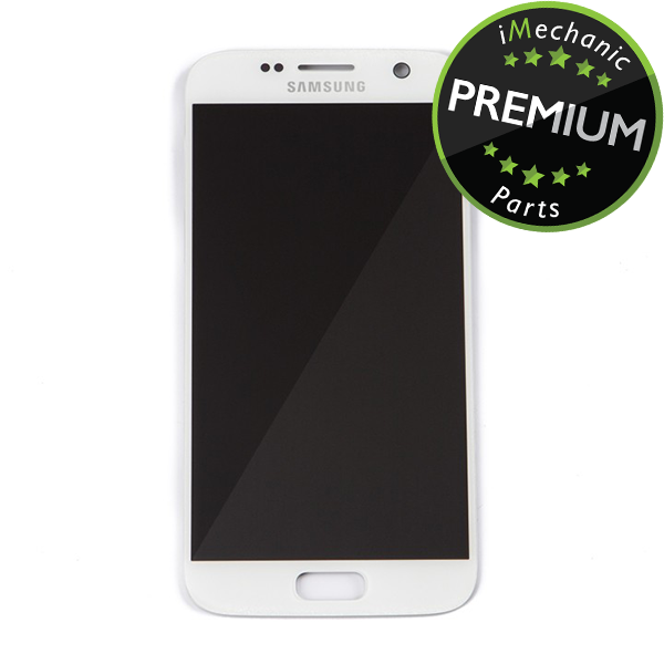 LCD Assembly Without Frame For Samsung Galaxy S7 (Premium) (White Pearl)