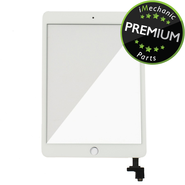 Digitizer With IC Chip For iPad Mini 1 / iPad Mini 2 (Premium Quality) (White)