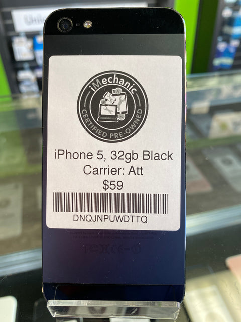 iPhone 5, 32gb, Black, Att