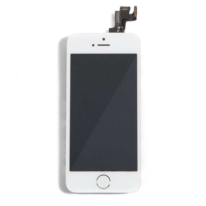 Complete LCD Assembly For iPhone 5 (With Front Camera, Prox Sensor & Ear Speaker) (Aftermarket Quality, Tianma) (White)