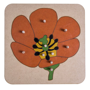 Botany Flower Puzzle My Montessori Home South Africa
