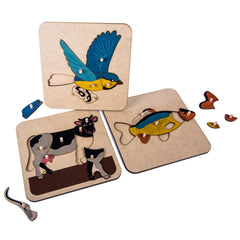 Free Montessori Materials - My Montessori Home - 3 Zoology Puzzles